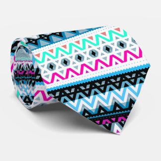 Mélange au néon #3 - cravate aztèque de concepteur