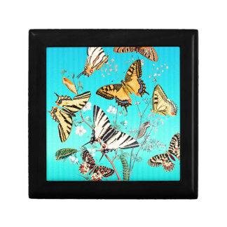 Mélange bleu de papillon boîte à souvenirs