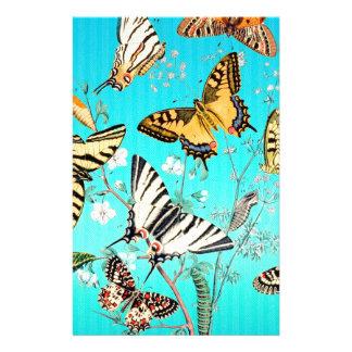 Mélange bleu de papillon papeterie
