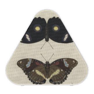 Mélange coloré de papillon sur l'arrière - plan haut-parleur bluetooth