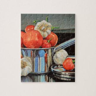 Mélange d'ail de poivre de tomate puzzle
