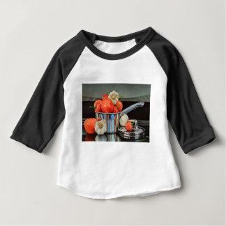 Mélange d'ail de poivre de tomate t-shirt pour bébé