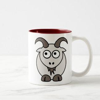 Mélange de chèvre mug bicolore