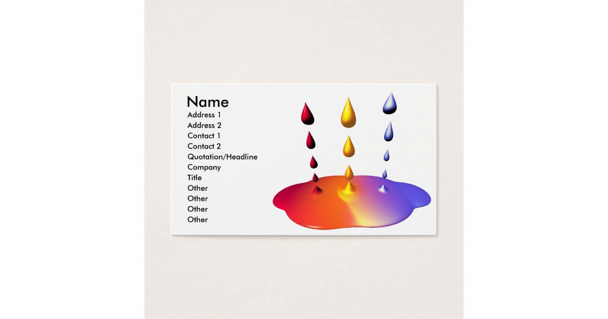 M lange de peinture taille d 39 affaires cartes de visite - Melange de peinture ...