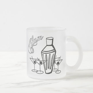 Mélange fascinant de Martini - noir et blanc Mug En Verre Givré