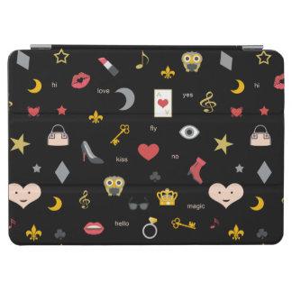 Mélange magique des baisers, lèvres, coeurs, protection iPad air