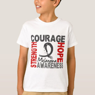 Mélanome d'espoir de courage de force t-shirt