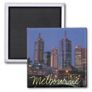 Melbourne Australie à l'aimant de photographie de  Magnet Carré