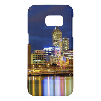 Melbourne, Australie. Une vue de nuit des 2 Coque Samsung Galaxy S7