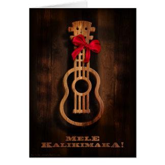 Mele Kalikimaka ! Carte de Noël d'ukulélé