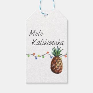 Mele Kalikimaka - étiquettes de cadeau de Noël