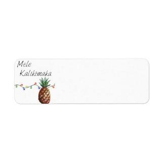 Mele Kalikimaka - étiquettes de retour de Noël