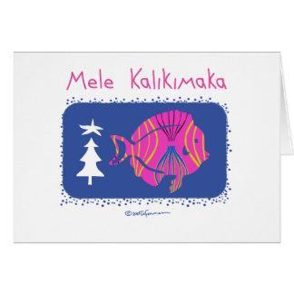 Mele Kalikimaka (Joyeux Noël : POISSONS de Carte De Vœux