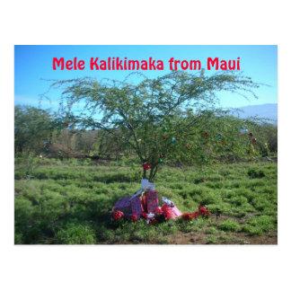 Mele Kalikimaka la manière d'île Carte Postale