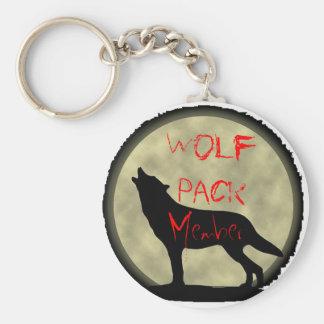 Membre de meute de loups porte-clé rond