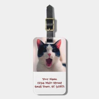 Meme de chat - chat drôle - memes drôles de chat - étiquette à bagage