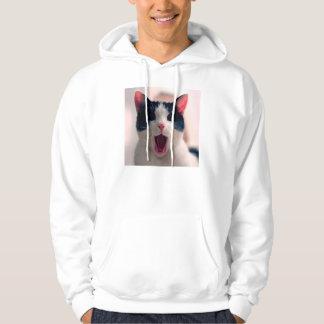 Meme de chat - chat drôle - memes drôles de chat - veste à capuche