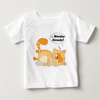 Même le chat déteste lundi t-shirt pour bébé