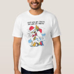 Meme neigeux drôle de père Noël de hibou T-shirt