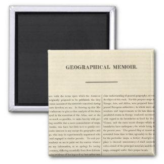 Mémoire géographique 4 magnet carré
