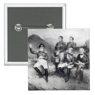 Mémoires de dictée du napoléon I à Emmanuel Las Badge Carré 5 Cm