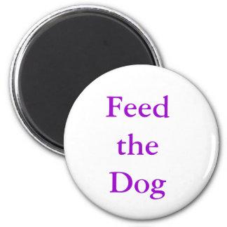 "MemoMag ""alimentation le chien "" Magnet Rond 8 Cm"