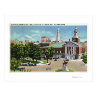 Mémorial de Bushnell, statue de Lafayette Carte Postale