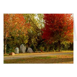 Mémorial de Dan Fogelberg dans la carte d'automne