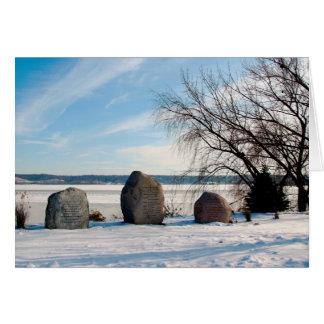 Mémorial de Dan Fogelberg dans la carte d'hiver