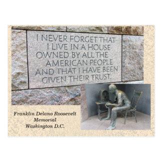 Mémorial de Franklin Roosevelt - carte postale