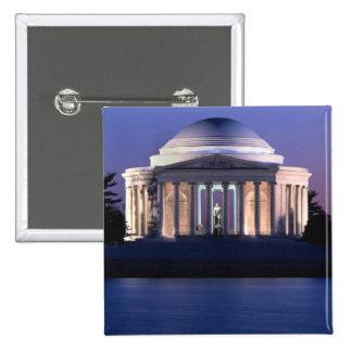 Mémorial de Thomas Jefferson au crépuscule Badges