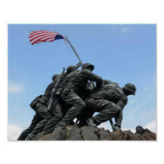 Mémorial d'Iwo Jima dans le Washington DC Poster