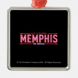 MEMPHIS - le logo musical Ornement Carré Argenté