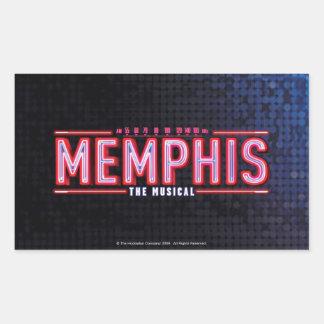 MEMPHIS - le logo musical Sticker Rectangulaire