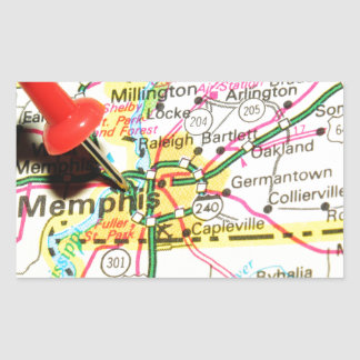 Memphis, Tennessee Sticker Rectangulaire