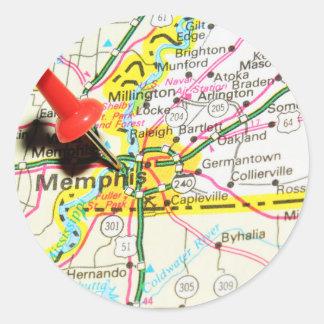 Memphis, Tennessee Sticker Rond