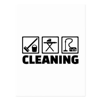 Ménage de nettoyage carte postale