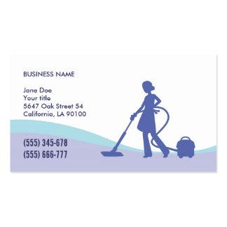 Ménage et modèle de carte de visite de domestique