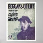 Mendiants de couverture vintage de Songbook de la  Posters