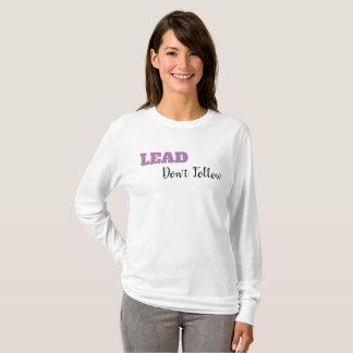 MENEZ, ne suivez pas le T-shirt longtemps gainé