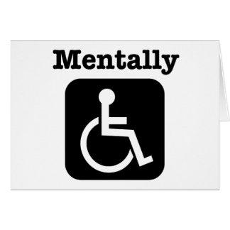 Mentalement - handicapé. cartes