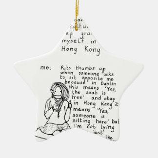 Mentalité de Hong Kong Ornement Étoile En Céramique