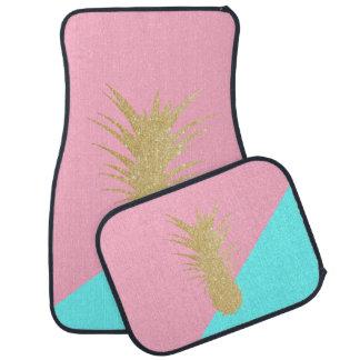 menthe élégante de rose d'ananas de scintillement tapis de voiture