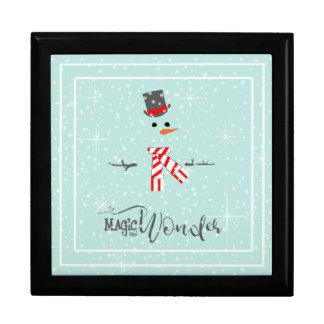 Menthe ID440 de bonhomme de neige de Noël de magie Boîte À Souvenirs