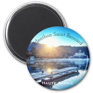 Menthon St Bernard, aimant rond de la Haute-Savoie