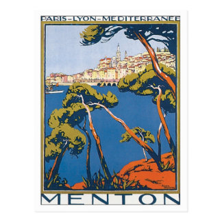 Menton vintage France Carte Postale