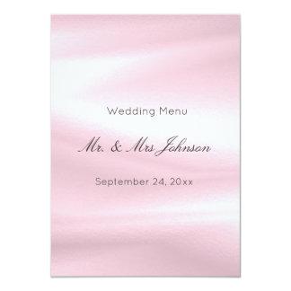 Menu blanc en soie pourpre gris lilas d'événement carton d'invitation  11,43 cm x 15,87 cm