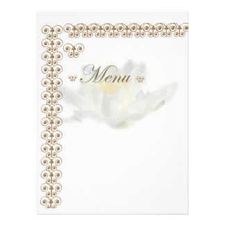 menu carte seerose et ornamenten