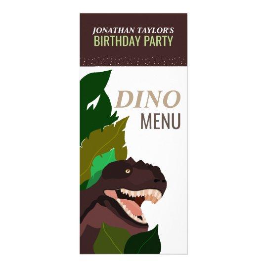 Menu de l'anniversaire des enfants de partie de cartes doubles