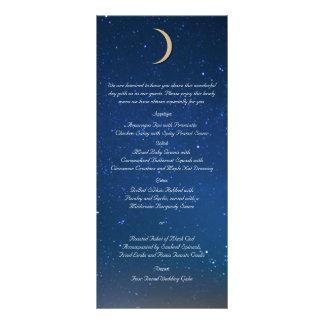 Menu de mariage de nuit étoilée double carte en  couleur
